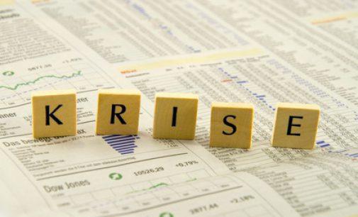 Wirtschaftliche Depression am Ende einer Wirtschafts- und Schuldenkrise